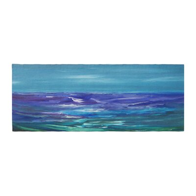 Cyndi Steen Moonlit Waves Bed Runner