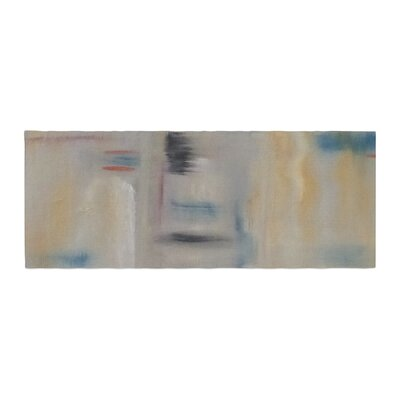 Cathy Rodgers Library Painting Abstract Bed Runner