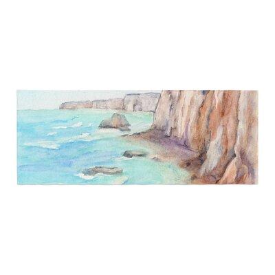 Cyndi Steen Cliffs at Normandie Travel Bed Runner