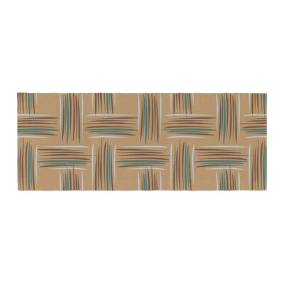 Empire Ruhl Natural Crosshatch Digital Bed Runner