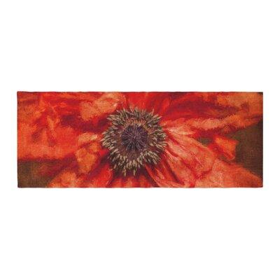 Ginkelmier Poppy Floral Bed Runner
