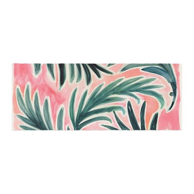Crystal Walen Lush Palm Leaves Bed Runner