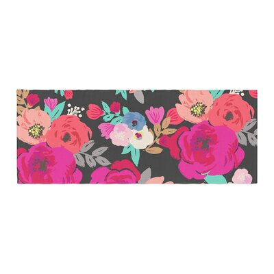 Crystal Walen Sweet Pea Floral Bed Runner