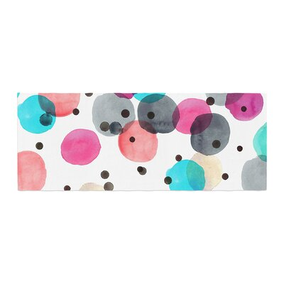 Crystal Walen Festive Watercolor Dots Bed Runner