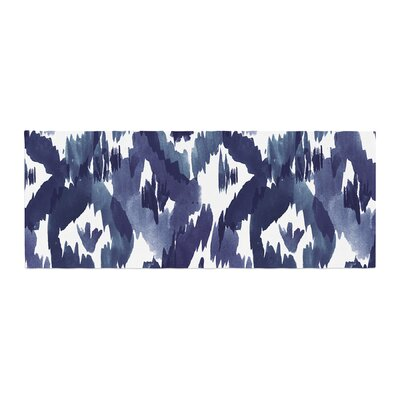 Crystal Walen Indigo Ikat Diamond Bed Runner