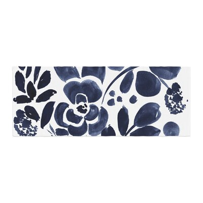 Crystal Walen Watercolor Floral Painting Bed Runner