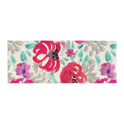 Crystal Walen Mona Brush Stroke Floral Painting Bed Runner