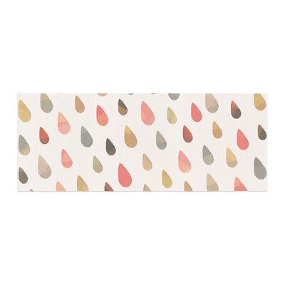 Daisy Beatrice Opal Drops Bed Runner Color: Peach