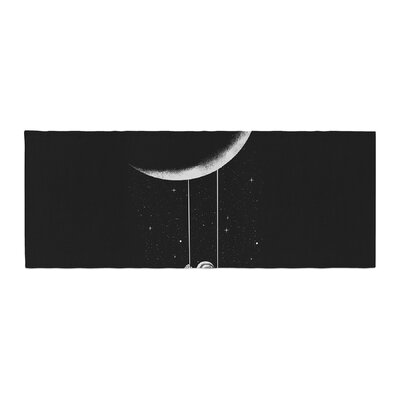Digital Carbine Moon Swing Fantasy Illustration Bed Runner