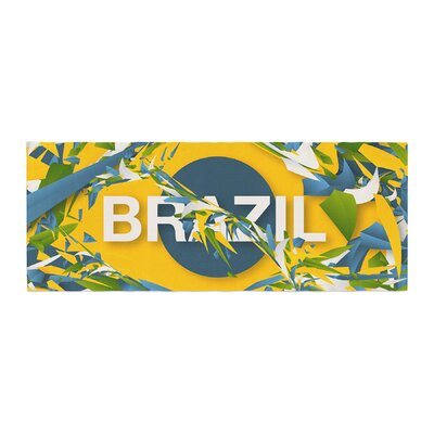 Danny Ivan Brazil World Cup Bed Runner