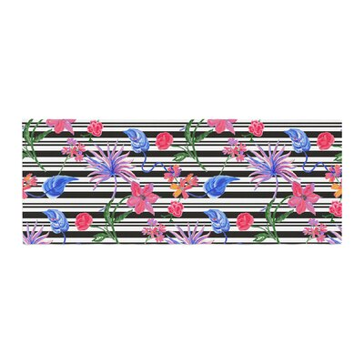 DLKG Design Flower Party Bed Runner