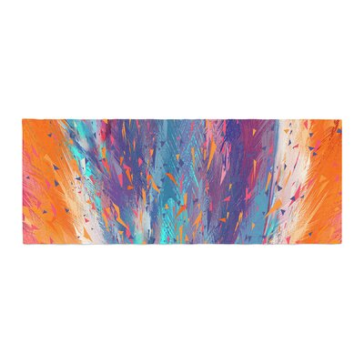 Danny Ivan Colorful Fire Cool Fire Bed Runner
