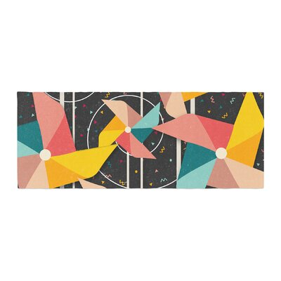 Danny Ivan Colorful Pinwheels Abstract Bed Runner