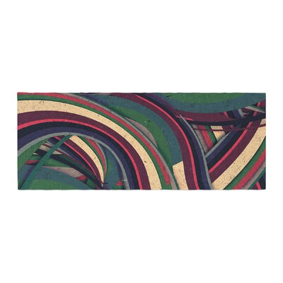 Danny Ivan Swirl Madness Geometric Bed Runner