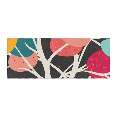 Danny Ivan Lovely Tree Branches Bed Runner