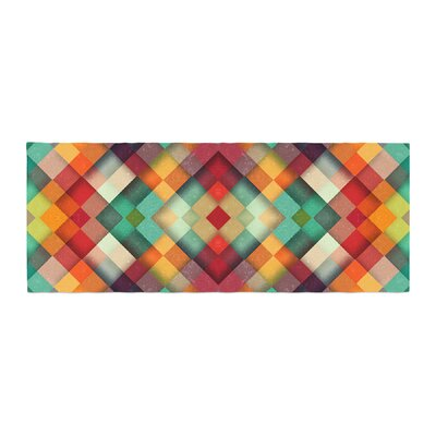 Danny Ivan Time Between Geometric Abstract Bed Runner