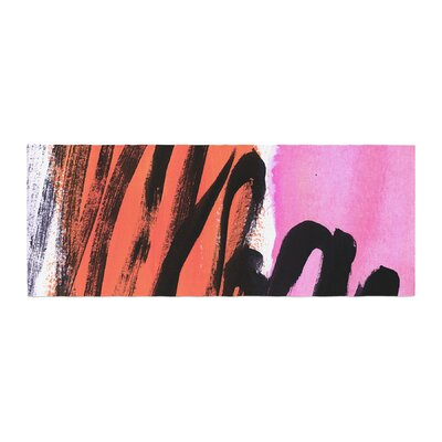 Iris Lehnhardt Strokes on Sherbet Abstract Bed Runner