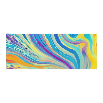 Ingrid Beddoes Rainbow Swirl Bed Runner