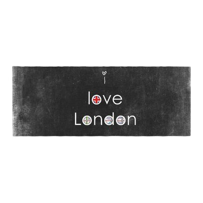 Ingrid Beddoes I Love London Grundge Bed Runner