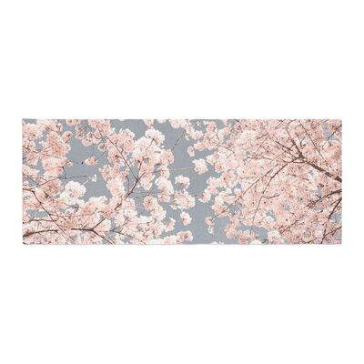Iris Lehnhardt Rosy Sky Floral Bed Runner