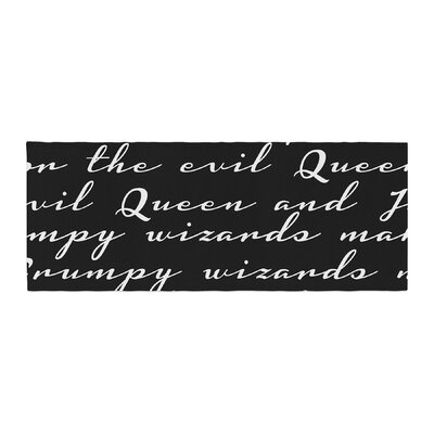 Jackie Rose Grumpy Wizards Typography Bed Runner