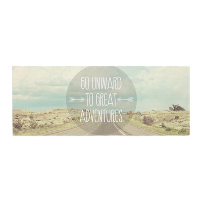 Jillian Audrey Go Onward to Great Adventures Typography Bed Runner