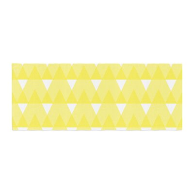 Jackie Rose Triangles Custard Bed Runner