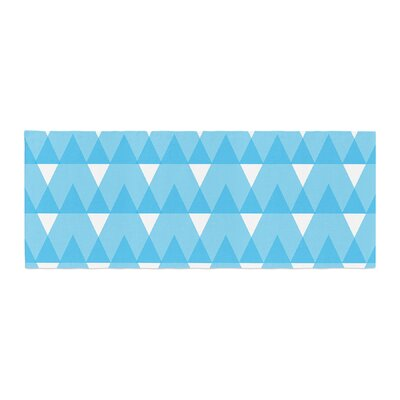 Jackie Rose Cyan Triangles Bed Runner