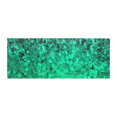 Ebi Emporium Romance Me Glitter Bed Runner Color: Green