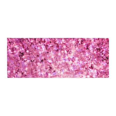 Ebi Emporium Romance Me Glitter Bed Runner Color: Pink