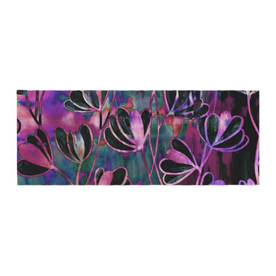 Ebi Emporium Efflorescence Bed Runner Color: Pink/Purple