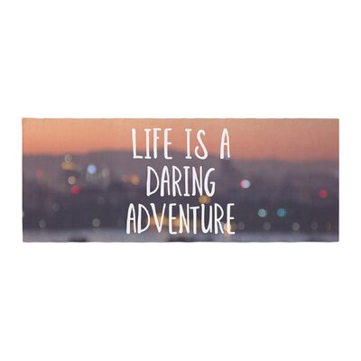 Jillian Audrey Life Is a Daring Adventure Typography Bed Runner