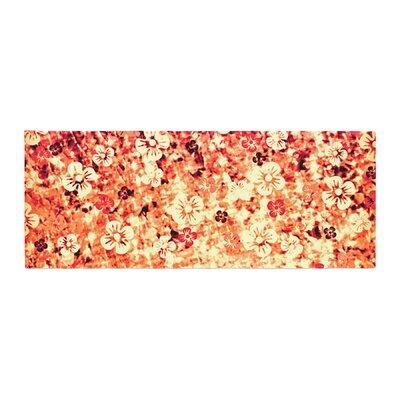 Ebi Emporium Flower Power Bed Runner Color: Orange