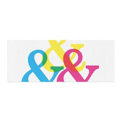 Jackie Rose CYMK Ampersands Colorful Bed Runner