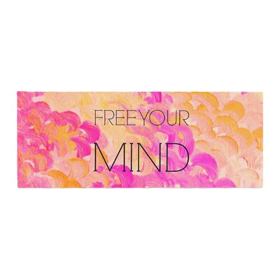 Ebi Emporium Free Your Mind Bed Runner Color: Pink/Orange