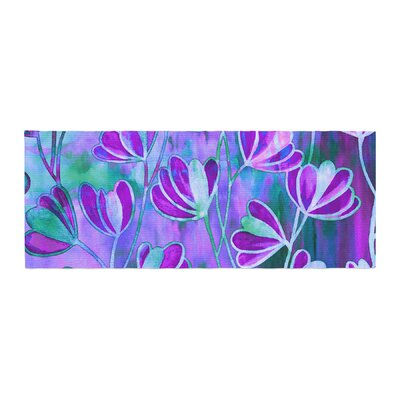 Ebi Emporium Efflorescence Bed Runner Color: Teal/Purple