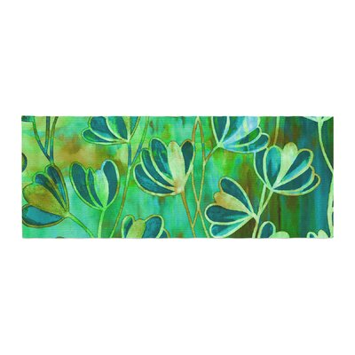 Ebi Emporium Efflorescence Bed Runner Color: Teal/Green
