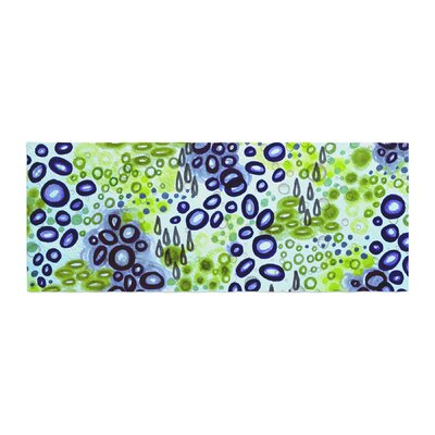 Ebi Emporium Circular Persuasian Bed Runner Color: Blue/Green