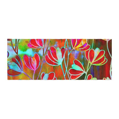 Ebi Emporium Efflorescence Bed Runner Color: Red