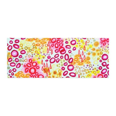 Ebi Emporium Circular Persuasian Bed Runner Color: Pink/Yellow