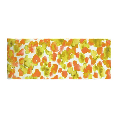 Ebi Emporium Giraffe Spots Bed Runner Color: Orange