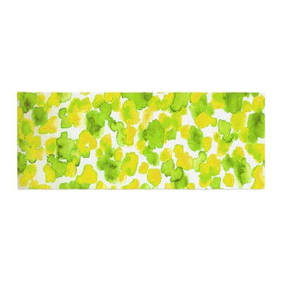 Ebi Emporium Giraffe Spots Bed Runner Color: Green