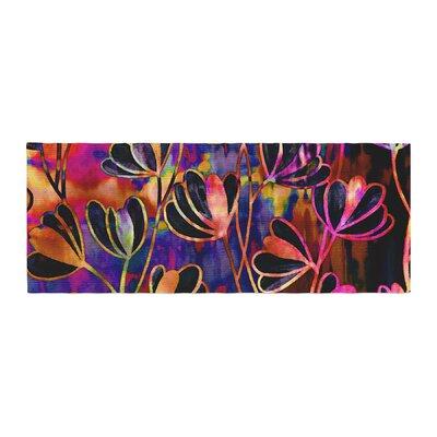 Ebi Emporium Efflorescence Bed Runner Color: Pink/Black