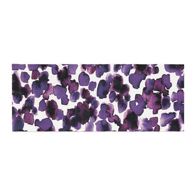 Ebi Emporium Giraffe Spots Bed Runner Color: Lavender
