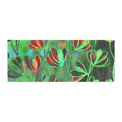 Ebi Emporium Efflorescence Bed Runner Color: Red/Green