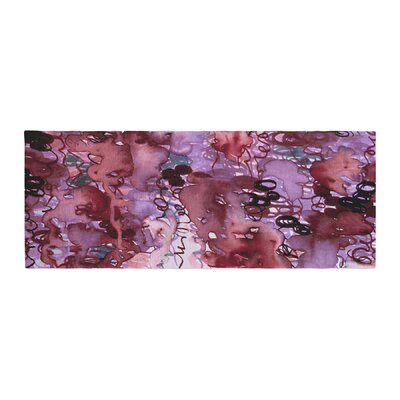 Ebi Emporium Beauty in the Rain Emerald Bed Runner Color: Red/Purple