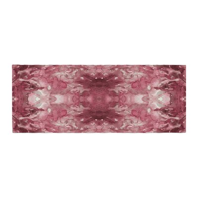 Ebi Emporium Tie Dye Helix Abstract Bed Runner Color: Red