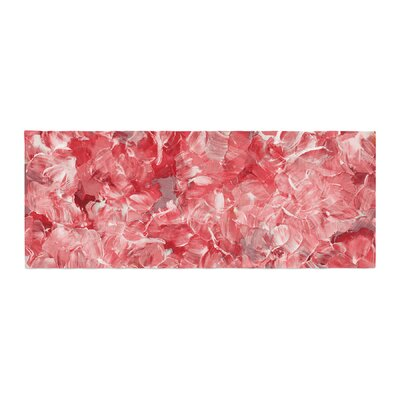 Ebi Emporium Bloom On! Abstract Bed Runner Color: Red/White