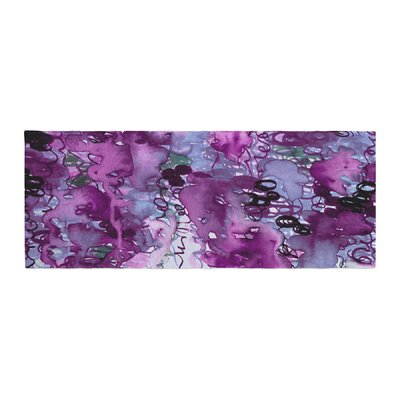 Ebi Emporium Beauty in the Rain Emerald Bed Runner Color: Purple