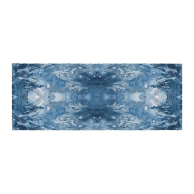 Ebi Emporium Tie Dye Helix Abstract Bed Runner Color: Blue